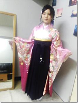 広島の美容室へ袴の出張着付に (2)