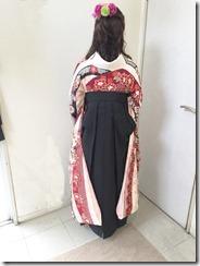 ハーツ五日市店に袴の出張着付け (2)