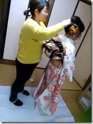 出張ヘアセットと振袖着付で世界遺産の宮島へ撮影に (2)