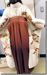 美容室へ袴の出張着付に (5)