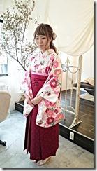広島市中区中町のコクリコ美容室へ袴出張着付に (2)