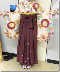 美容室へ袴の出張着付に (2)
