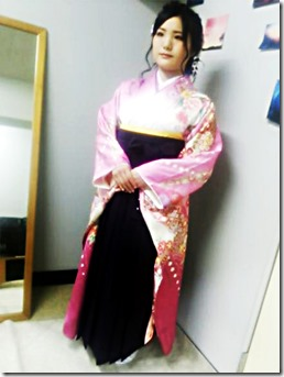 広島の美容室へ袴の出張着付に (3)