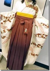 美容室へ袴の出張着付に (4)