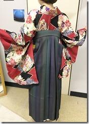 美容室へ袴の出張着付に (1)