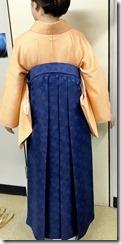 美容室へ袴の出張着付に (7)
