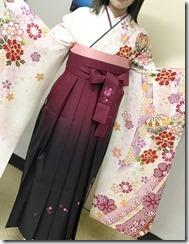 美容室へ袴の出張着付に (8)