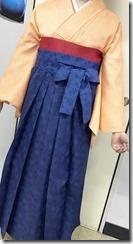 美容室へ袴の出張着付に (6)