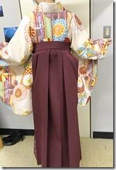 美容室へ袴の出張着付に (3)