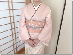 かわいい鶴の刺繍が袋帯に (3)