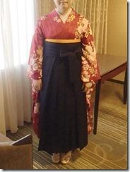 リーガロイヤルホテル広島へ袴着付とヘアセットに (4)