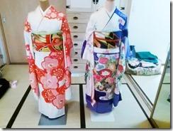 色鮮やかな振袖着付け練習 (5)