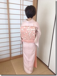 かわいい鶴の刺繍が袋帯に (2)