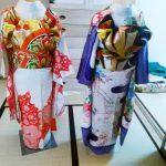 色鮮やかな振袖着付け練習(*^_^*)♪
