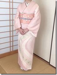 かわいい鶴の刺繍が袋帯に (1)