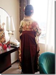 袴の出張着付にリーガロイヤルホテル広島へ (2)