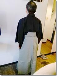 小紋と袴の出張着付に (5)