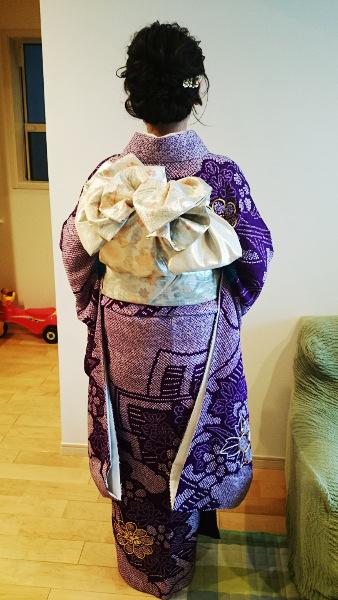 素敵な振袖の着物を着付に(^O^)♪