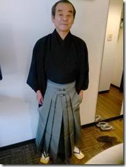 小紋と袴の出張着付に (4)
