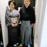 小紋と袴の出張着付に(^O^)♪