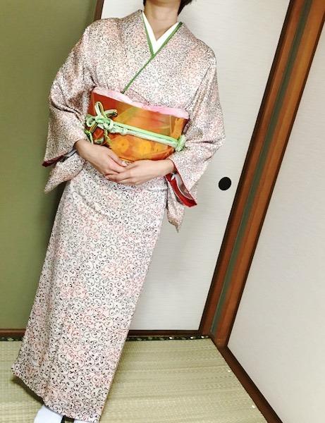 着物で結婚式へ(*^^*)♪