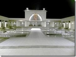 夜も素敵な古田台の結婚式場に出張着付 (5)