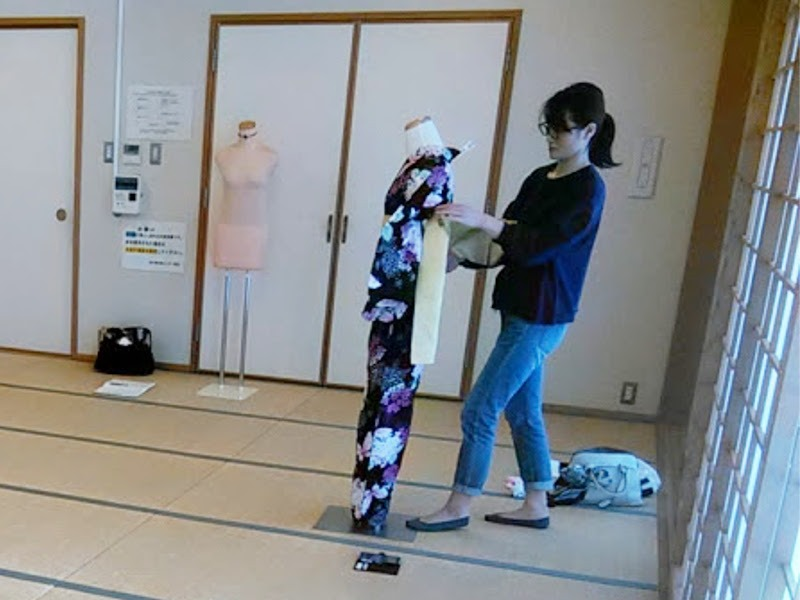 実践 着付師からバランスの良い美しい着付を学ぶ(^O^)♪