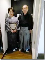 小紋と袴の出張着付に (2)