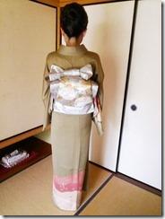 スッキリとした着付姿の出張着付 (4)