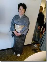 小紋と袴の出張着付に (6)
