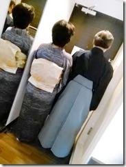 小紋と袴の出張着付に (3)