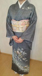 広島市安佐南区山本へ訪問着の出張着付に (1)