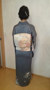 広島市安佐南区山本へ訪問着の出張着付に (3)