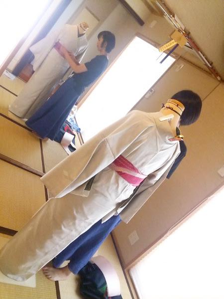 普段着きものの他装着付練習(*^_^*)♪