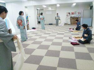 広島リビングカルチャーで着物教室