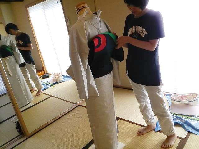 着物の他装着付練習