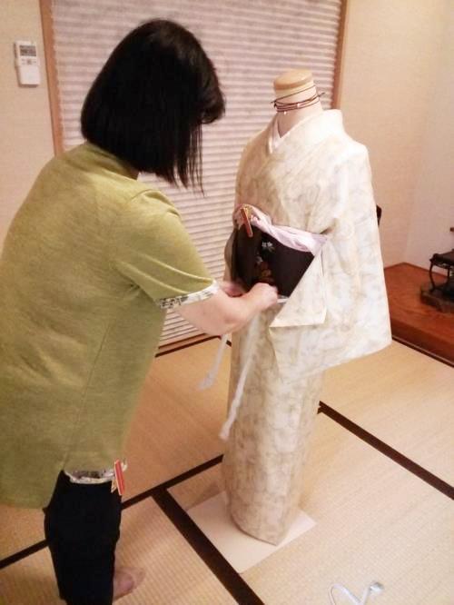 着物の他装着付を練習中