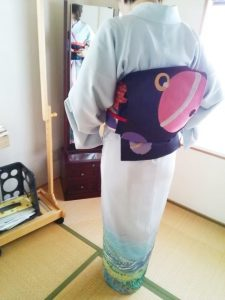 ご自宅で礼装着の着付教室