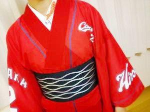 田中選手のカープ浴衣でハロウィンパーティーへ
