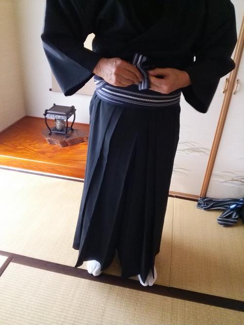 剣舞の袴着付を学びに