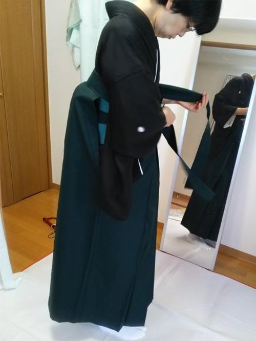 自装で卒業式・謝恩会に袴と訪問着を