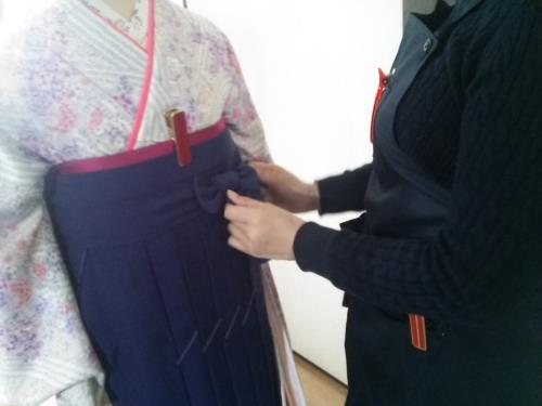袴の着付け練習