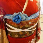 着付師の振袖着付け練習会でお花結を(^o^)♪