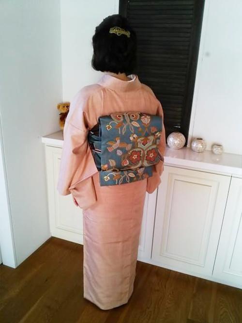 素敵な紬の着物を着付けに(^o^)♪