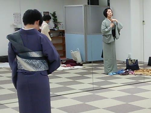 リビング広島 着物教室で忘年会(^O^)/♪