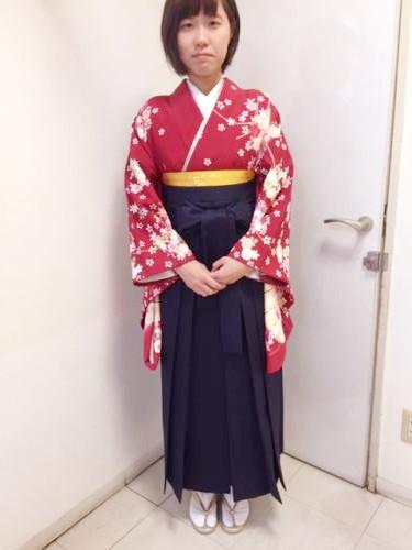 袴姿で卒業式に(^^)♪