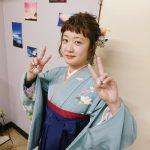 袴で大学の卒業式に(^o^)♪