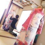 温品の美和きもの教室で着付練習を(^^)♪