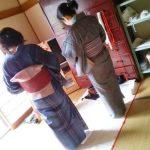 安佐北区で島先生の出張着付け教室(^o^)♪