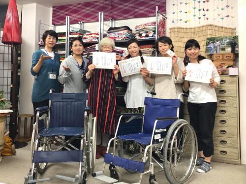 成人式の車椅子着付けに向けて(^o^)♬